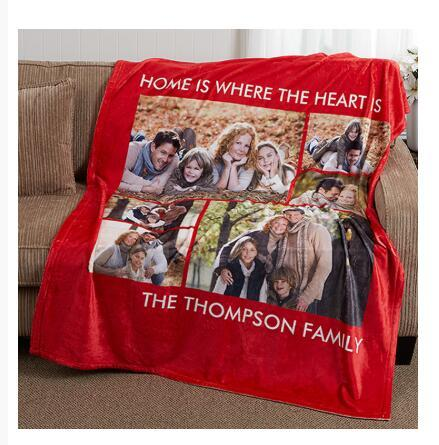 Print on demand, Dropshipping Picture Perfect Personalized Fleece Photo Blanket 3