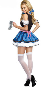 Image 3 - Women German Dirndl Oktoberfest Costume Bavarian Heidi Beer Girl Costume