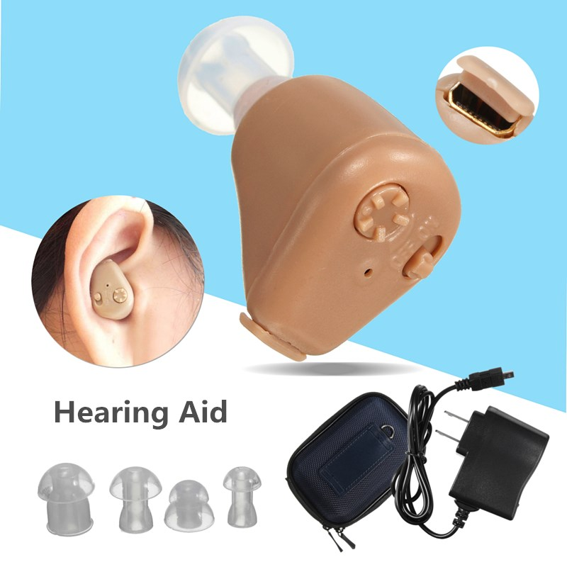 Rechargeable Digital Invisible In Ear Mini Hearing Aid Ear Sound Amplifier Hearing Assistance Tiny Voice Aid for the Elderly digital hearing aid sound amplifier noise reduction 2 program digital invisible in ear mini hearing loss s 10a