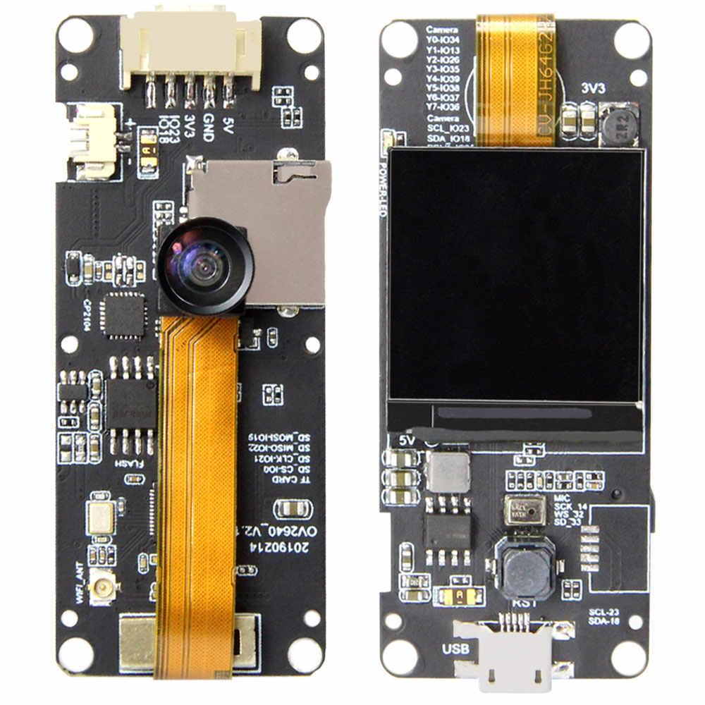 LILYGO® TTGO T-Camera Plus ESP32-DOWDQ6 8MB SPRAM Camera Module OV2640 1 3  Inch Display Rear Camera