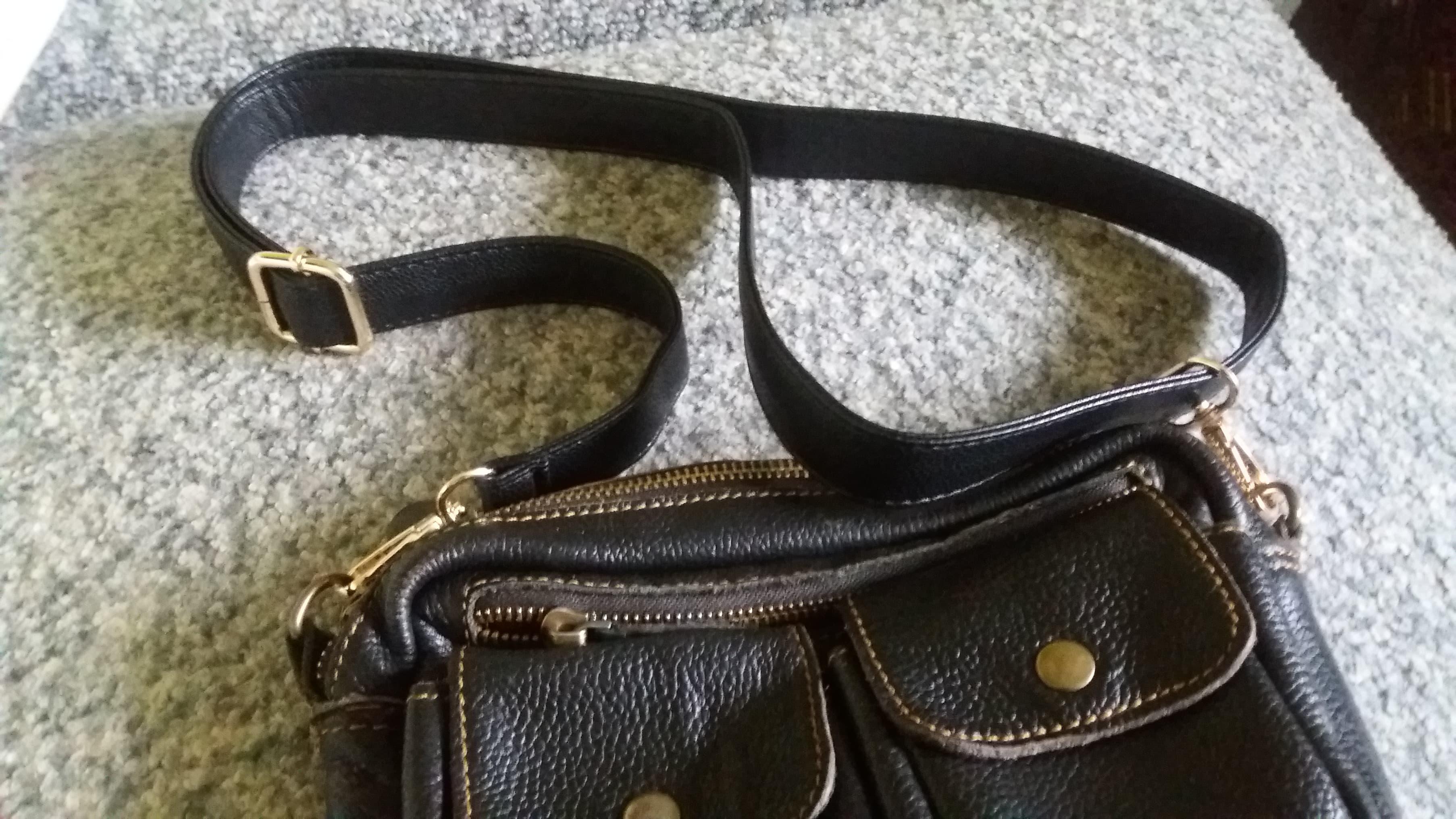 Tas Handgreep Zwart PU Dame handtas accessoires Met Karabijnhaak / Hondenhaak 2.5cm 2cm 1.2cm breedte photo review