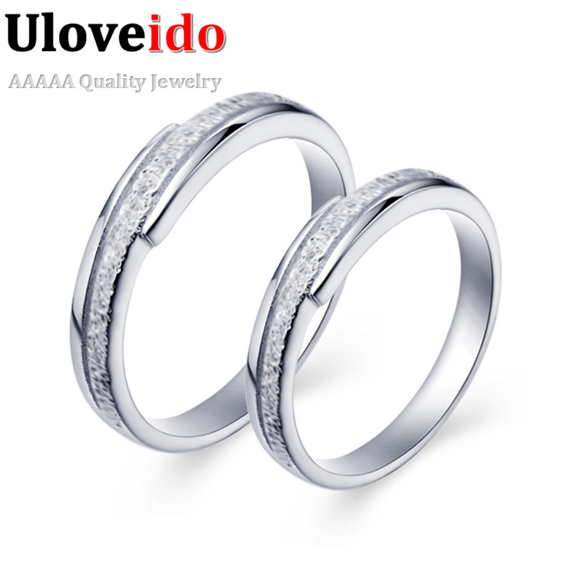 New Unique Women Bague En or Mariage Joyas Vintage Silver Color Rings Zircon CZ Zircon Ring Wedding Band Engagement Rings J034