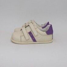 TipsieToes 브랜드 고품질 정품 가죽 바느질 어린이 신발 소년과 소녀 2020 봄 새로운 맨발로