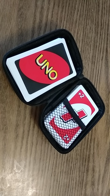 Travel Zipper Carry Hard Case UNO Playing Cards Board Game Cards Storage Package For Kids Fan Entertainment Card Holder Mini Bag photo review