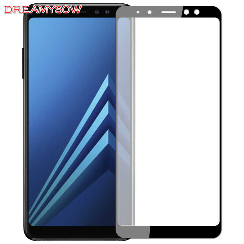 9H Full Cover Tempered Glass Film For Samsung A8 Plus A7 A5 A6 Plus 2018 A320 Galaxy J4 J2Pro J6 2018 Screen Protector HD Cover