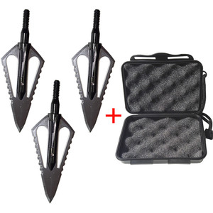 Image 1 - 3pcs Hunting Arrowhead 100Gr Steel Broadhead Arrow Point Target Shooting Tips Crossbow Compound Recurve Bow Head With 1 Box