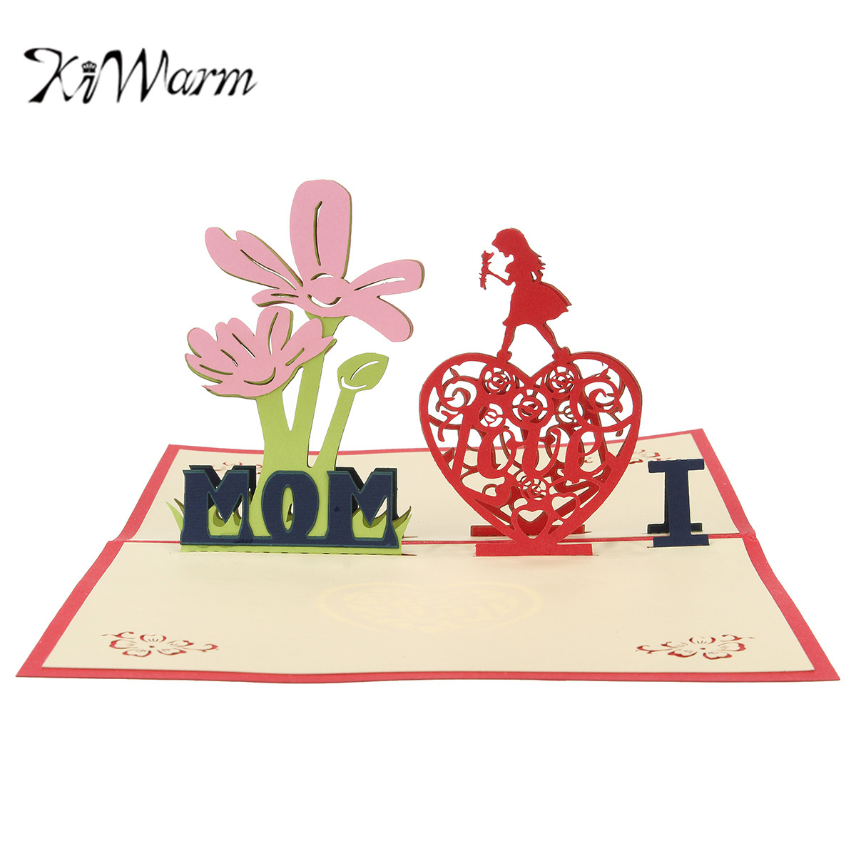 pop up birthday cards for mom - kiwarm 3d pop up greeting card heart mother 39 s day i love