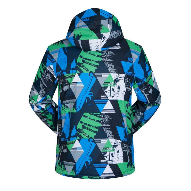 2019Men's スキージャケット防水厚みの暖かいスキーやスノーボードの衣類冬男性雪スノーボードスキージャケットブランド