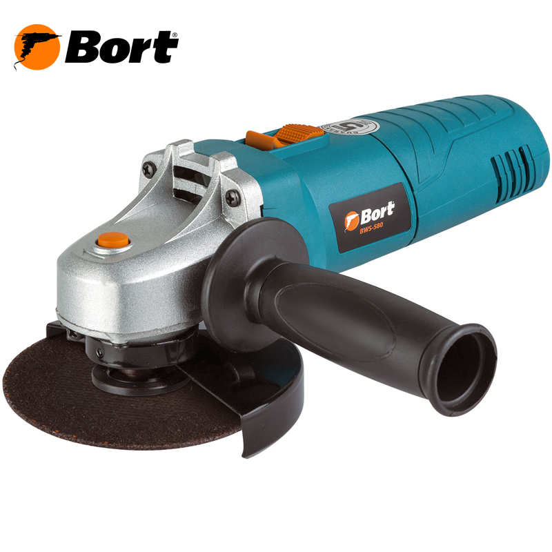BORT Angle Grinder bulgarian USHM Grinding machine Electric grinder Angle Grinder grinding Power or cutting metal portable Woods Steel Power Tool Warranty BWS-580 angle grinder energomash ushm 90112