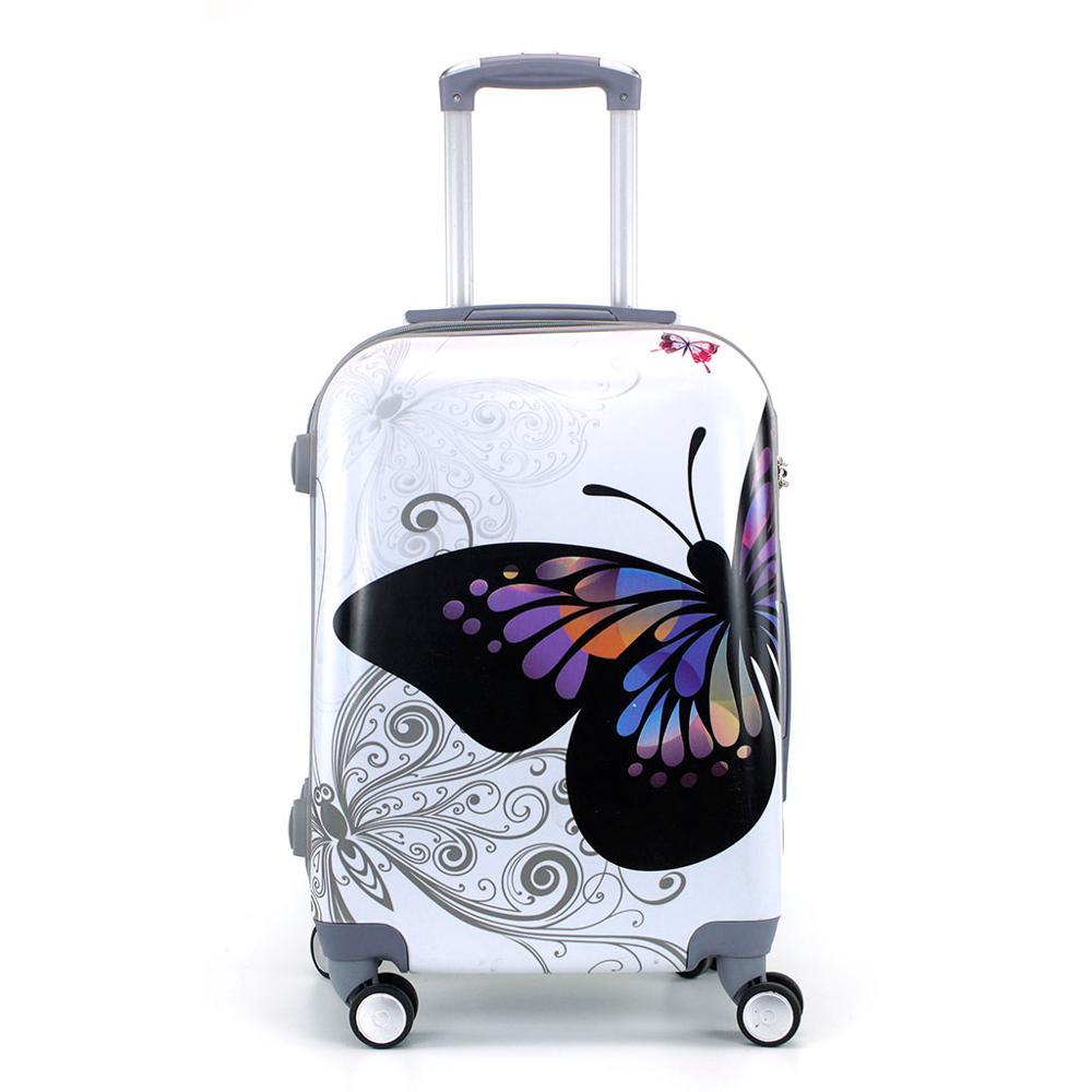 Cabin Suitcase Stamped 55cm Rigid