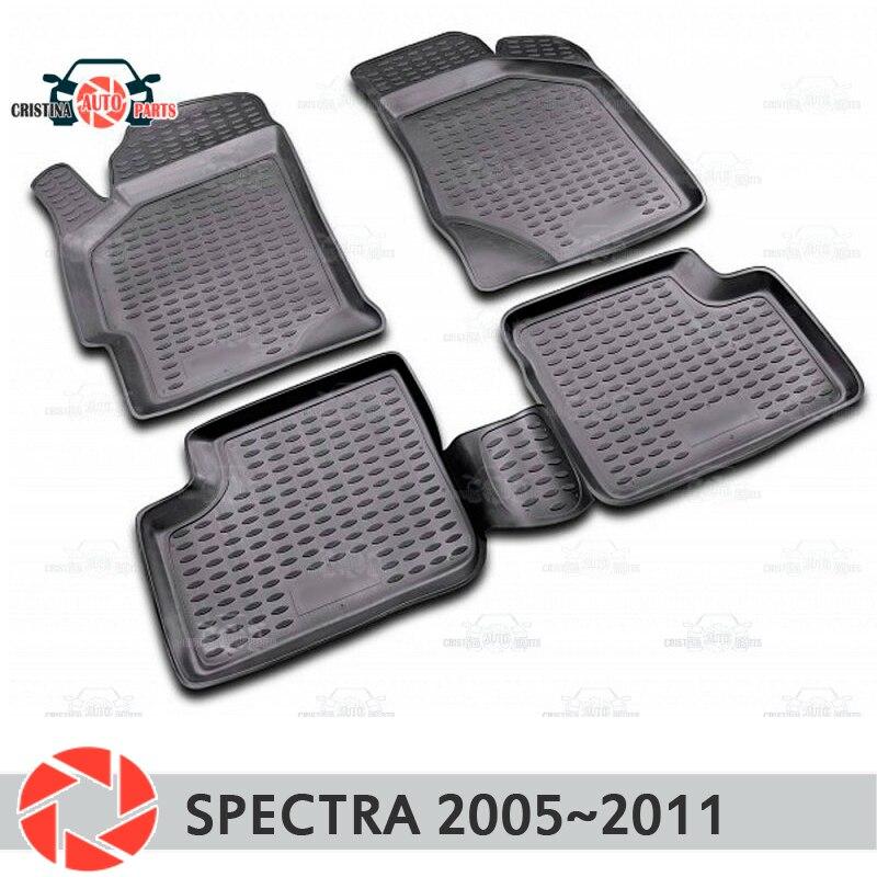 Alfombras de piso para Kia Spectra 2005 ~ 2011 alfombras antideslizantes de poliuretano tierra protección interior estilo de coche accesorios