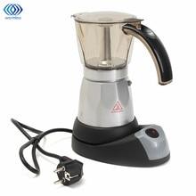 Cocina de Mini Cafetera Eléctrica Automática Máquina de Café Cafetera 6 Tazas de Espresso Cafetera Moka Tetera Hogar