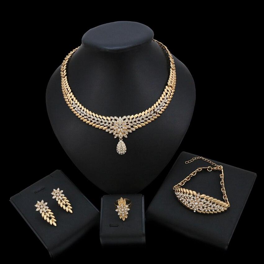Ensembles de colliers de bijoux de mode Zone de Shopping bijoux accessoires de bijoux ensemble de bijoux en or Simple