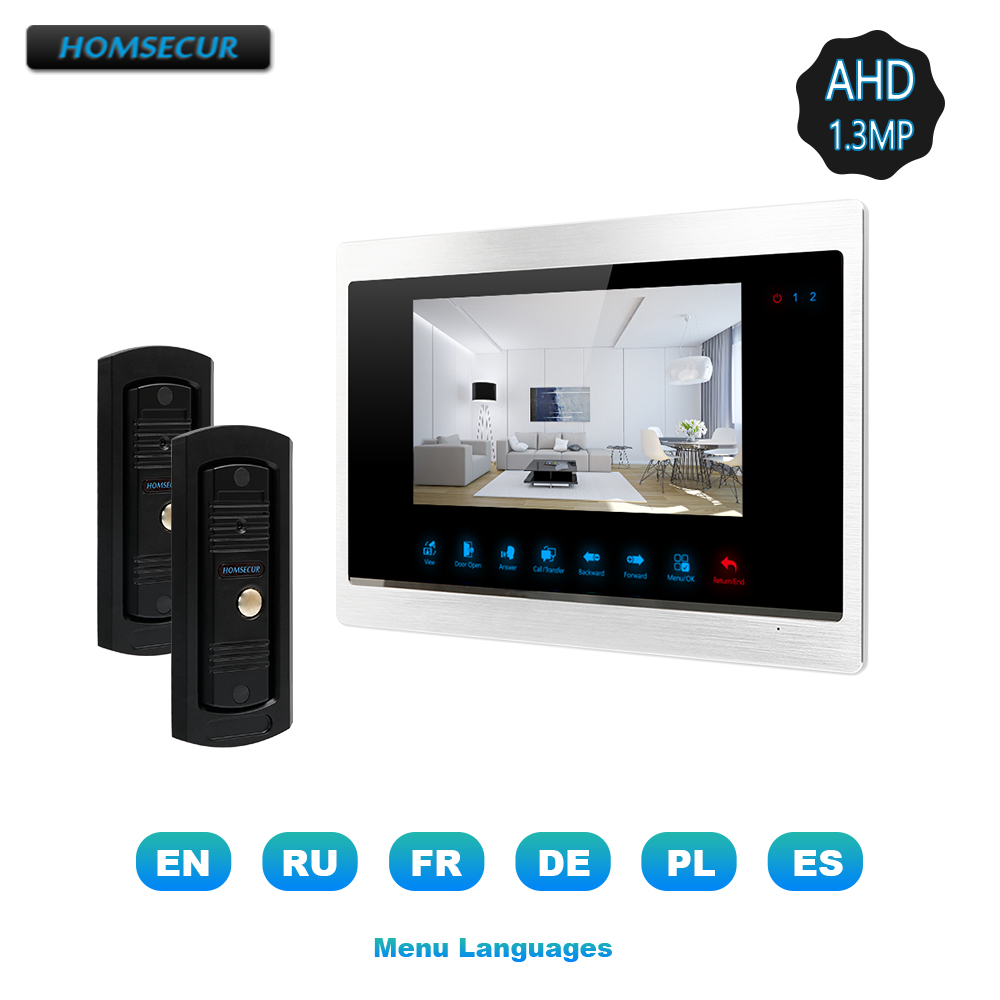 HOMSECUR AHD 7 4 Wire Video&Audio Home Intercom with Call Transfer, Support Music&Movie for Home Security (BC011HD-B+BM702HD-S)HOMSECUR AHD 7 4 Wire Video&Audio Home Intercom with Call Transfer, Support Music&Movie for Home Security (BC011HD-B+BM702HD-S)