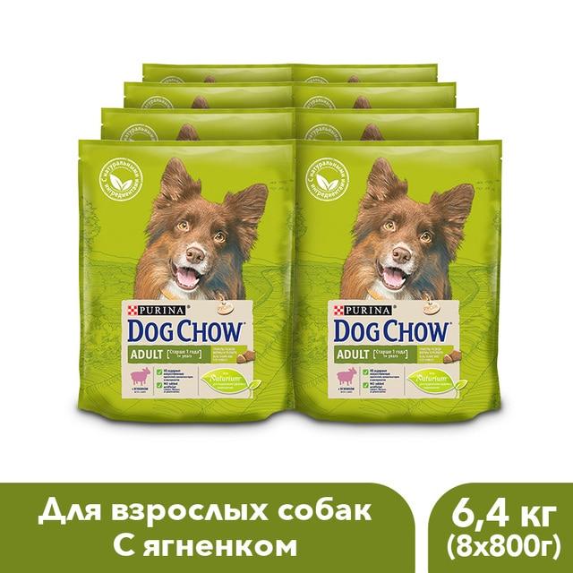 Сухой корм Dog Chow для взрослых собак старше 1 года, с ягненком, 6.4 кг.
