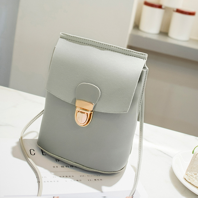 Women S Handbags Lady Shoulder Small Cell Phone Bag Lock Opening Black Blue Red