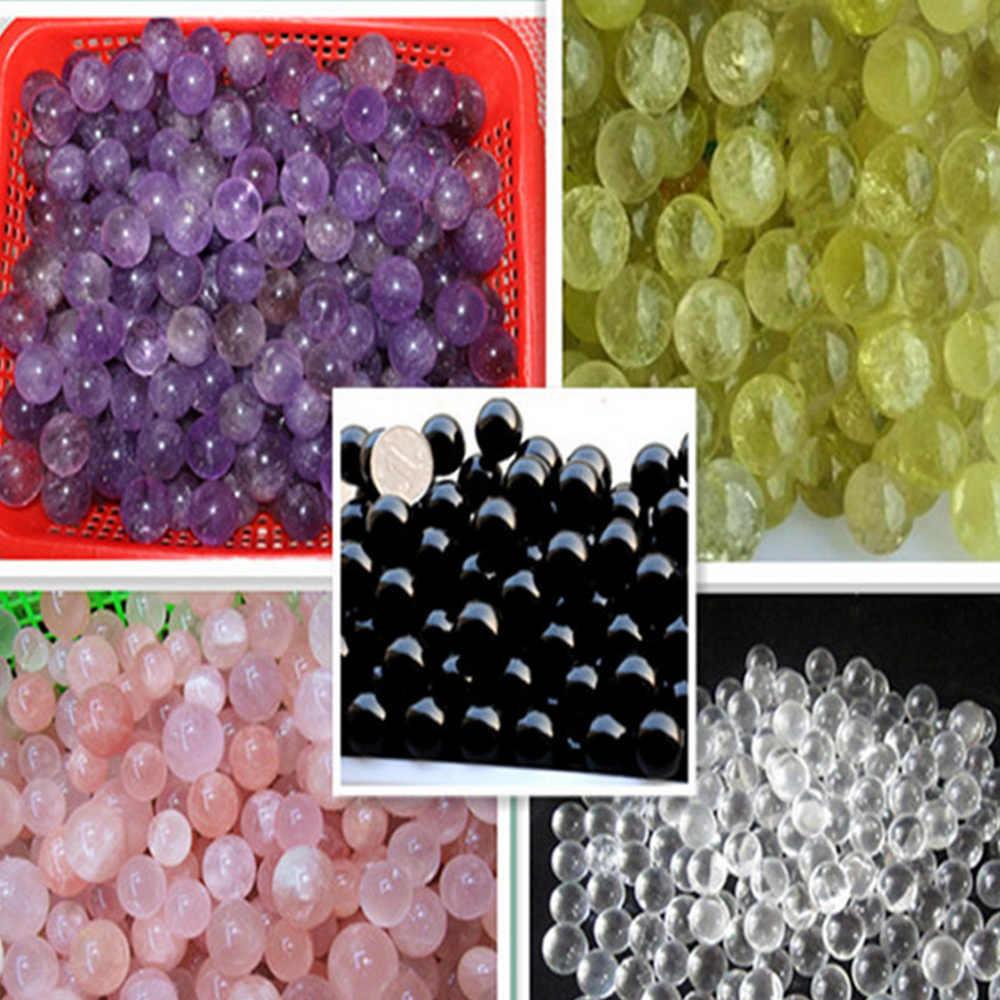 20 グラム天然水晶石ボール 5 色白ピンク紫黄色結晶黒曜石弦楽器にブレスレット家の装飾のギフト