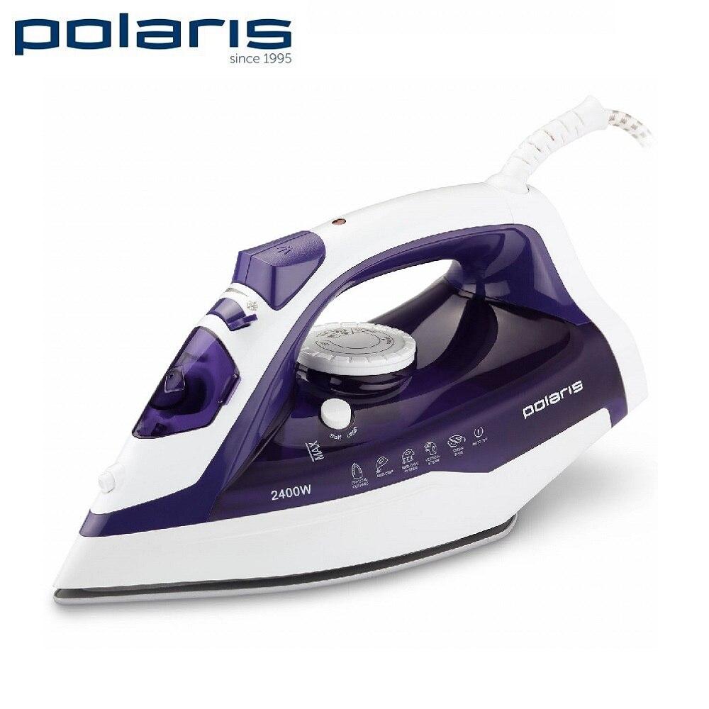 лучшая цена Iron Polaris PIR 2482AK White/Purple Iron for ironing Mini iron steam iron Steam generator for clothing Irons Electric steamgenerator Small iron