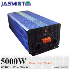 цена на 5000W 48VDC 100/110/120VAC or 220/230/240VAC Pure Sine Wave PV Inverter Off Grid Solar& Wind Power Inverter PV Inverter
