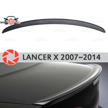 Спойлер для Mitsubishi Lancer X 2007-2014 пластик ABS Украшения багажника двери аксессуары Защитная оклейка автомобилей литья