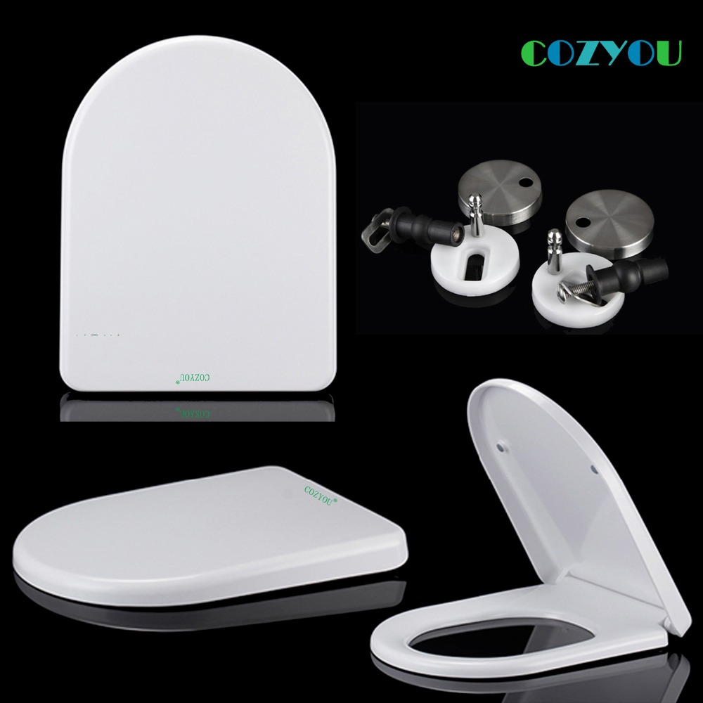 UF Ceramic texture Toilet seat U shape Urea formaldehyde material Slow closed Double button removal COZYOU GBF17255SU