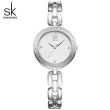 SHENGKE Brand ladies fashion wrist watches women clock quartz watch Resistant Montre Relogio Feminino angel girl gift