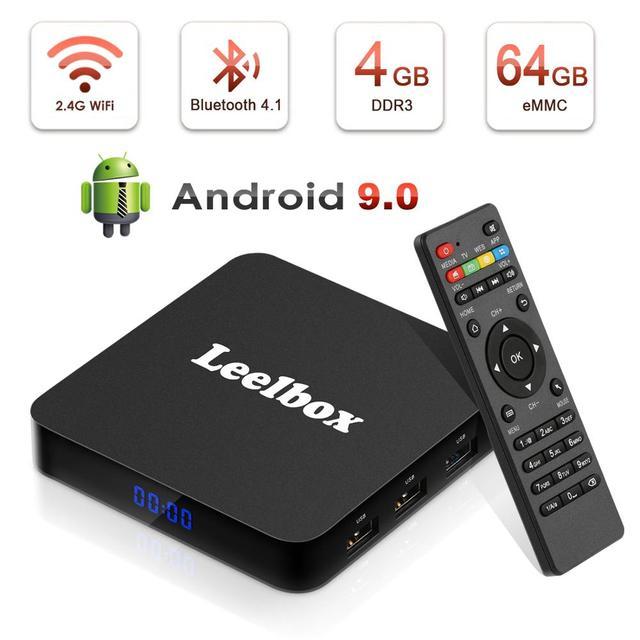 Leelbox Q4 Plus Android 9.0 Smart TV BOX Rockchip RK3328 Quad Core unterstützung 2,4G Drahtlose WIFI media box Set  top Box