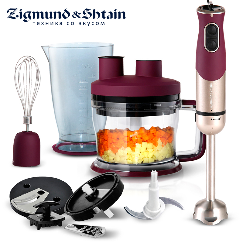 Zigmund & Shtain BH-339M Blender Hand kitchen 900W 1750ml Mixer Food processor Household use 6 modes Turbo Low noise level dl 7029 blender hand kitchen mixer food processor household use