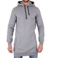 2017 New Longline Hoodies Mens Autumn Winter Long Casual Hoody Hooded Sweatshirt Tracksuit Pullover Solid Design