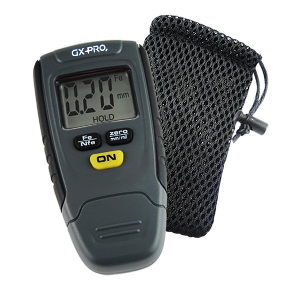 цена на Paint Coating Thickness Gauge Digital Tester Meter Instrument 1.25mm Iron Aluminum Base Metal Car Automotive Non-Metal w/ Pouch