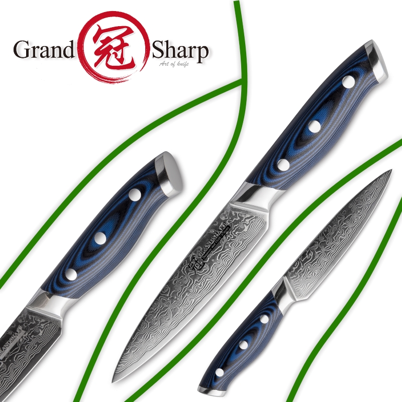 Image 5 - GRANDSHARP  5 Inch Utility Knife Damascus Kitchen Knife 67 Layers  Japanese Damascus Stainless Steel VG 10  Cooking Tools  Knivesdamascus  kitchen knifekitchen knifedamascus kitchen