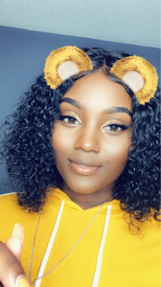 """NYUWA Short 13x6 Lace Front Human Hair Wigs Pre Plucked With Baby Hair Curly Brazilian Remy Hair Lace Front Bob Wigs 10""""-14"""""""