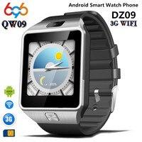 696 QW09 Смарт часы Smartwatch DZ09 Обновление Android Bluetooth Мобильного телефона Поддержка Wifi 3 Г Sim-карта Play Store, Скачать ПРИЛОЖЕНИЕ