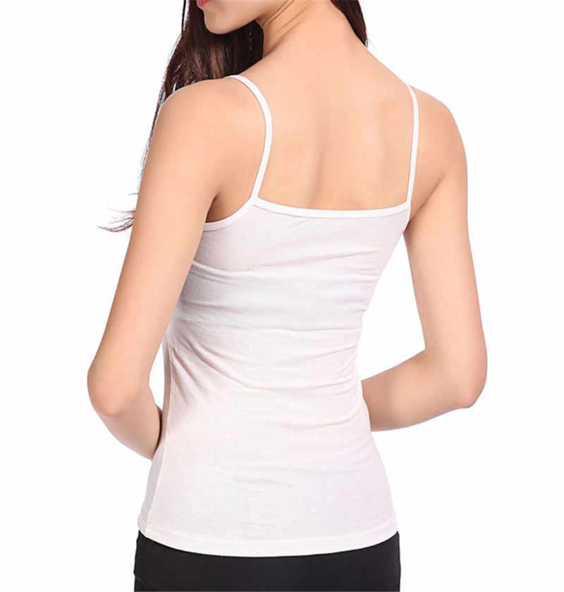 Nowe Tank Tops kobiety T koszula lato kamizelka modalne szczupła bez rękawów Spaghetti pasek topy koszula Camisole bazy T-Shirt kobiet Blusas tee