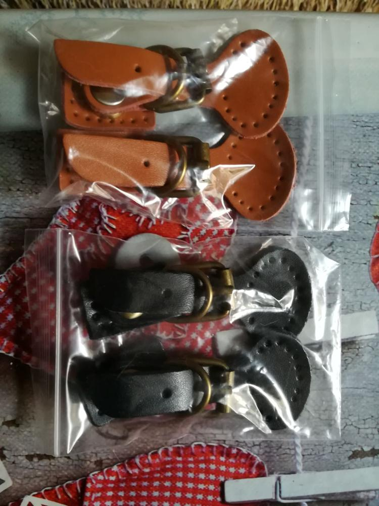 2pcs/lot Handmade Diy Patchwork Bags Lock Self-Restraint Quality Cowhide Bag Buckle Mortise Lock Accessories KZ0263 photo review