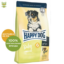 Happy Dog Supreme Baby Lamb & Rice корм для щенков всех пород, Ягненок и рис, 10 кг.