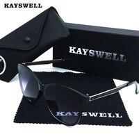 KAYSWELL Zonnebril Vrouwen Designer V400 Cat Eye Zonnebril Outdoor Brillen Met Dozen D1735