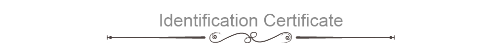 identification Certificate