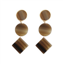 Acetate acrylic sheet geometry of individual character vogue fashion accessory earrings