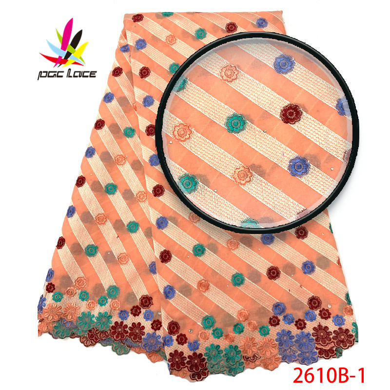 2019 New Design Peach Color Embroidered Voile Lace Fabric High Quality Swiss Voile Lace In Switzerland For Men AMY2610B 1-in Lace from Home & Garden    1