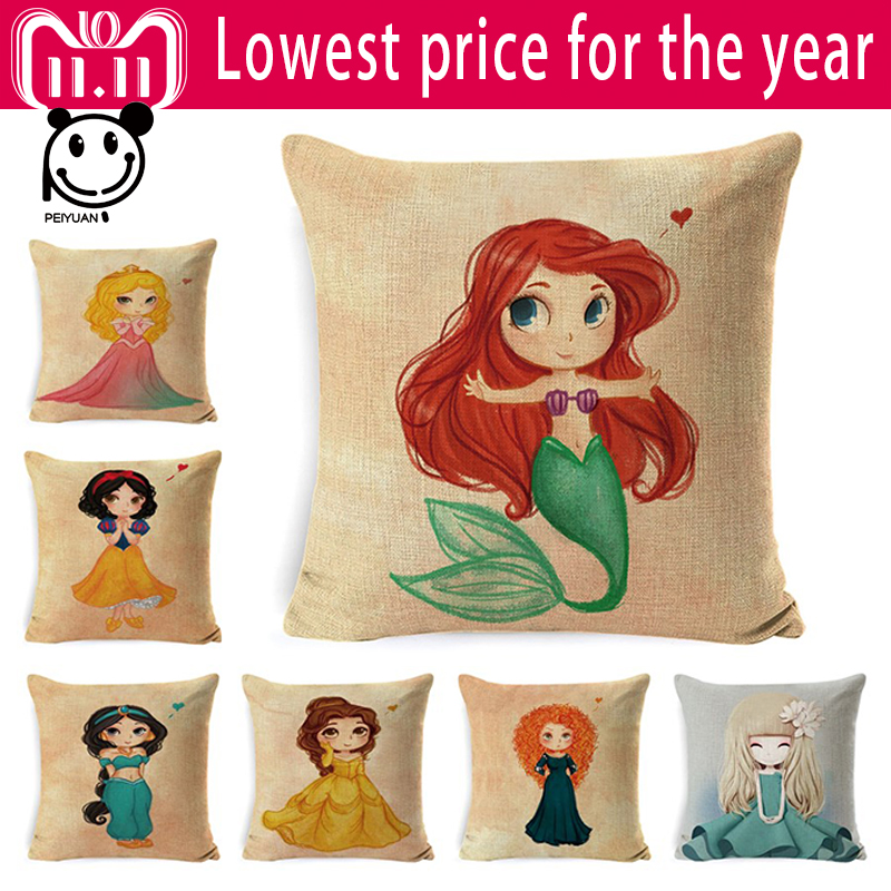 Surprising Us 3 07 23 Off Peiyuan Harajuku Cute Little Girl Pillowcase Cover 40 Cotton Lien High Quality Chair Seat Kawaii Pillow Case Sofa Cushion Cover In Bralicious Painted Fabric Chair Ideas Braliciousco