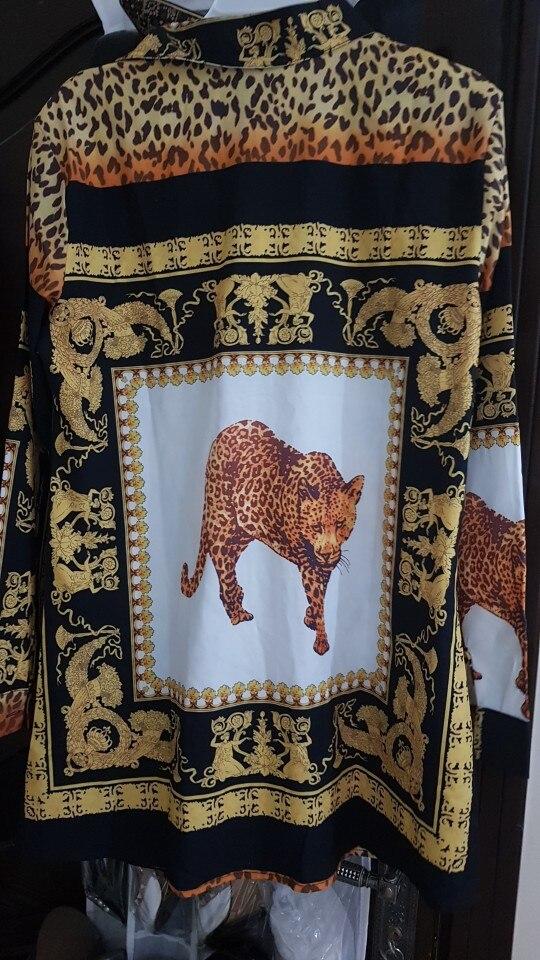 Fashion Long Sleeve Leopard Print Women Blouses Shirt Sexy Lapel Women Top Plus Size Blusas Chemise Femme Roupa Feminina photo review