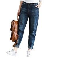 2018 Boyfriend Jeans Women Trousers Casual Plus Size Loose Fit Vintage Denim Harem Pants High Waist Jeans Women Vaqueros CM2077