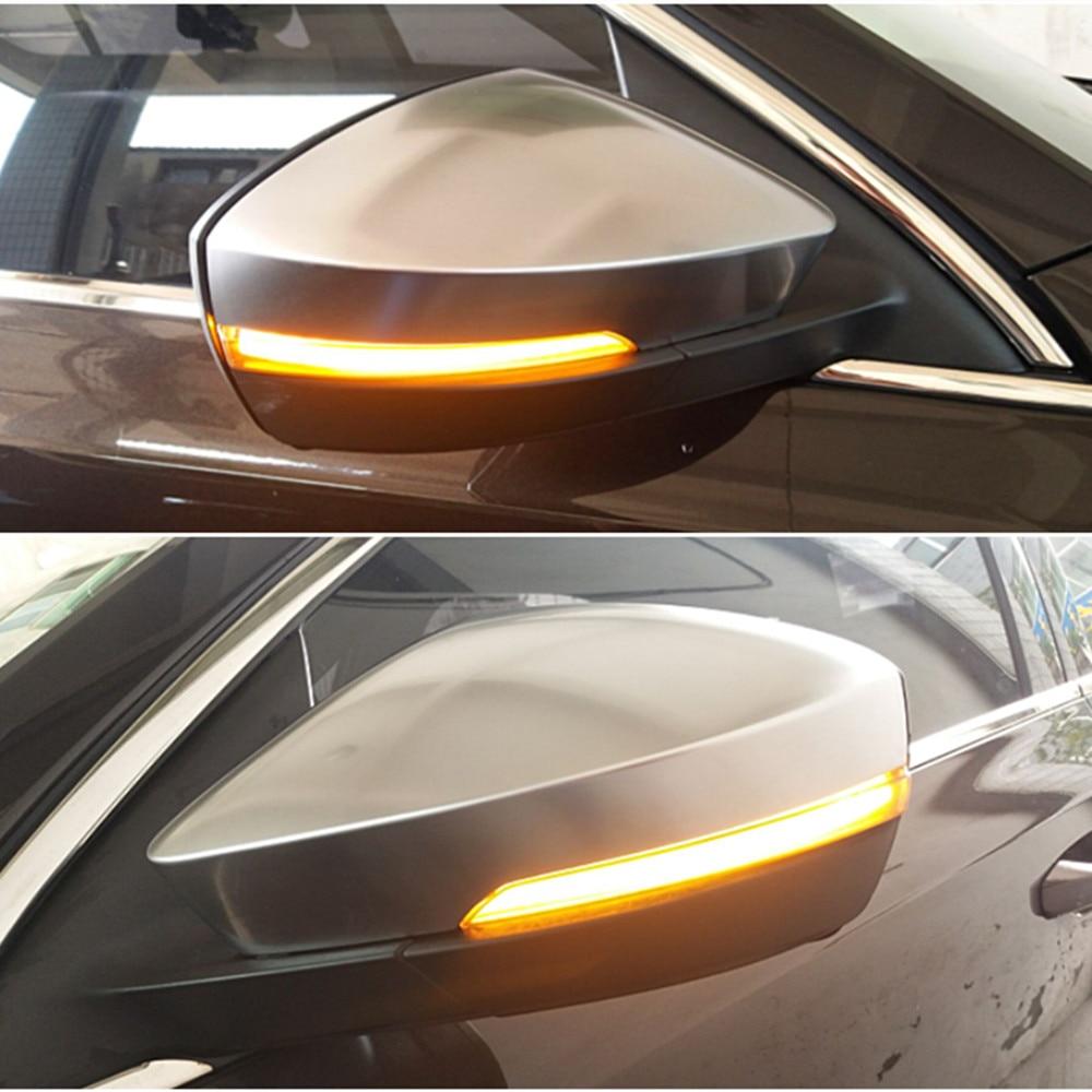 Para Skoda Octavia Mk3 B8 5E 2013-2018 Superb 2016-2019 Dinâmico LED Turn Signal Blinker Seqüencial Lado indicador espelho de Luz