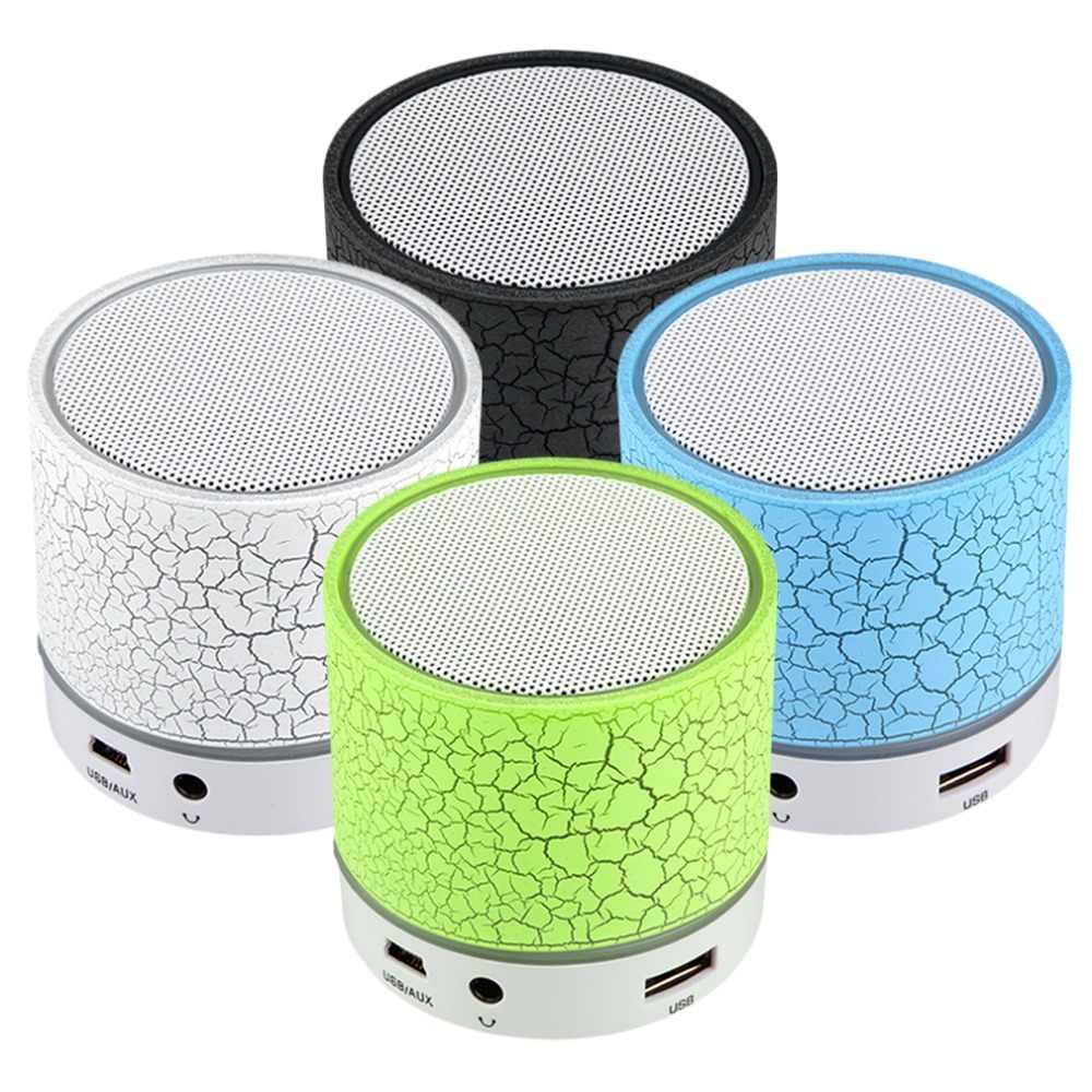 Портативный мини беспроводной громкий динамик светодиодный сабвуфер Bluetooth динамик s беспроводной бас динамик с TF USB FM Музыкальный радиоплеер