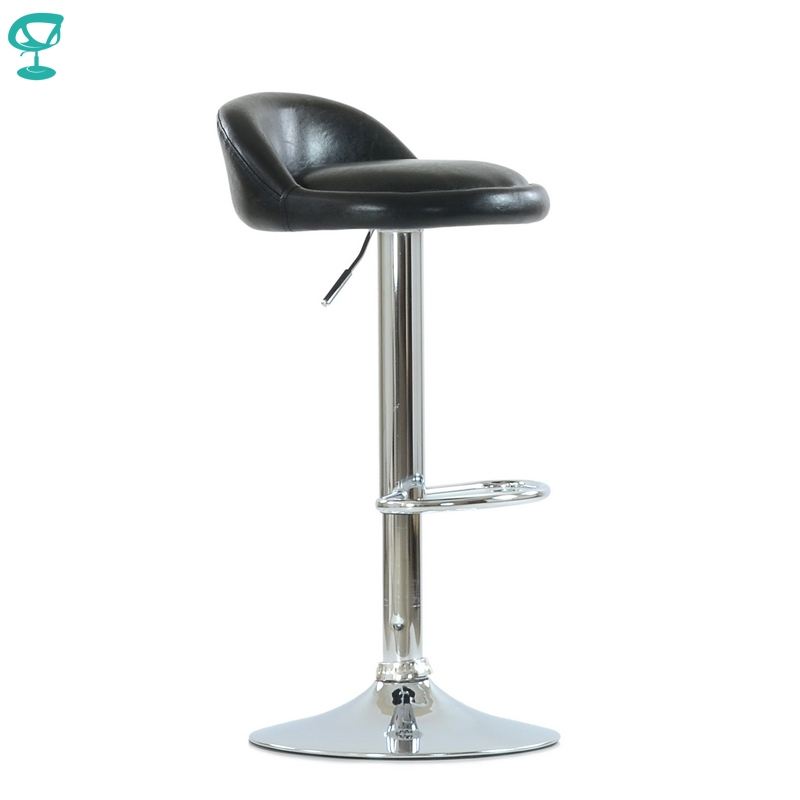 N97CrSPUblack Barneo N-97 PU Leather Kitchen Breakfast Bar Stool Swivel Bar Chair Black Color Free Shipping In Russia