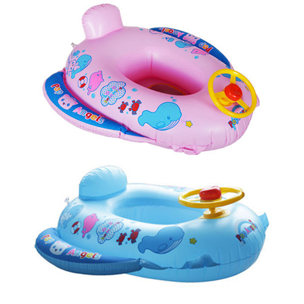 PVC Baby Float Swimming Ring Inflatable Car Steering Wheel Seat Float Kids Trainer Toy Pool & Accessories