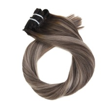 Moresoo, накладные волосы на заколках, натуральные человеческие волосы Remy для наращивания на всю голову, прямые волосы, 9 шт./100 г, 16-24 дюйма