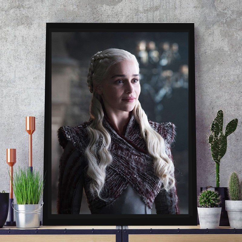 Daenerys Targaryen Poster Game of Thrones Season 8 Paintings On Canvas Modern Art Decorative Wall Pictures Home Decoration image