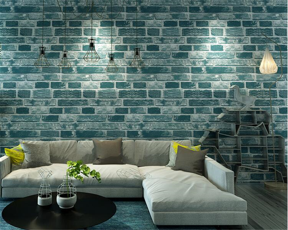 beibehang Retro to do the old brick pattern culture stone wallpaper barber shop clothing store hotel papel de parede wallpaper beibehang simple fashion clothing store hotel barber shop brick wall paper beauty salon cafe style brick pattern 3d wallpaper
